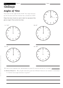 Angles Of Time - Geometry Worksheet With Answers