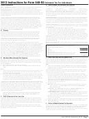 Form 540-es - Instructions For Form 540-es Estimated Tax For Individuals - 2013