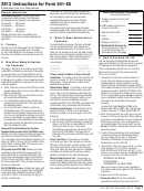 California Form 541-es - Estimated Tax For Fiduciaries - 2013