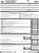 California Form 541-a - Trust Accumulation Of Charitable Amounts - 2013