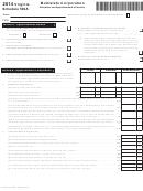 Virginia Schedule 500a - Multistate Corporation - 2014