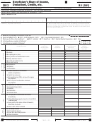 California Schedule K-1 (form 541) - Beneficiary's Share Of Income, Deductions, Credits, Etc. - 2013