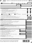 Form 41s - Idaho S Corporation Income Tax Return - 2013