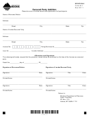 Montana Form M-1 - Secured Party Addition