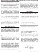 Instructions For Virginia Form Lpc-1, Application For A Land Preservation Credit, Virginia Agricultural Best Management Practices For Water Quality