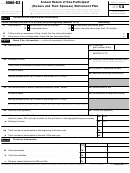 Form 5500-ez - Annual Return Of One-participant (owners And Their Spouses) Retirement Plan - 2013