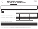 Form Ft-941 - Terminal Operator's Monthly Report Of Diesel Motor Fuel And Motor Fuel Inventory