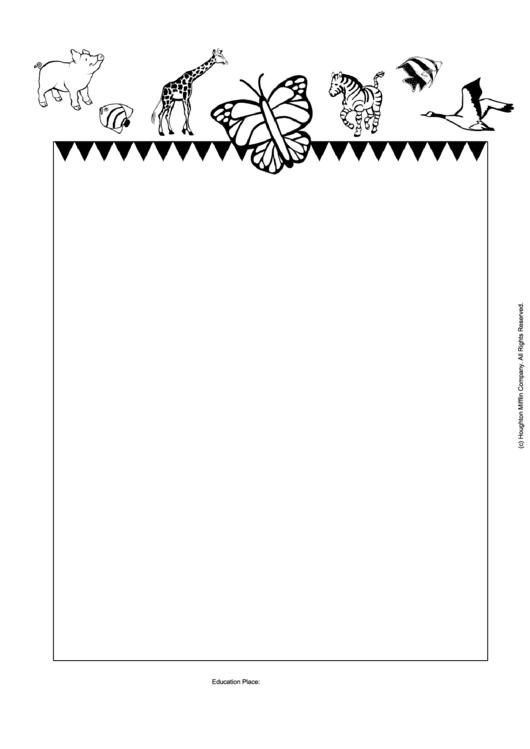 Zoo Decorative Writing Paper