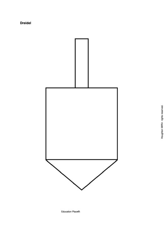 image relating to Dreidel Printable known as Paper Dreidel Template printable pdf obtain