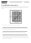 To Grandmother's House We Go - Math Worksheet With Answers