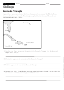 Bermuda Triangle - Math Worksheet With Answers