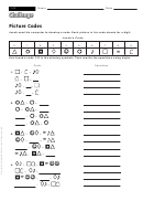 Picture Codes - Math Worksheet With Answers