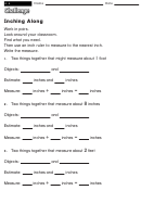 Inching Along - Math Worksheet