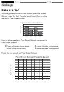 Make A Graph - Math Worksheet With Answers