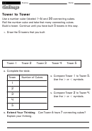 Tower To Tower - Math Worksheet With Answers