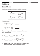 Secret Code - Math Worksheet With Answers