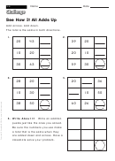 See How It All Adds Up - Addition Worksheet With Answers