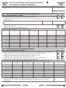 California Form 3725 - Assets Transferred From Parent Corporation To Insurance Company Subsidiary - 2013