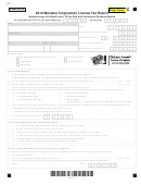 Form Clt-4 - Montana Corporation License Tax Return - 2012