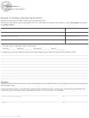 Form Ftb 3705 - Request For Taxpayer Advocate Equity Relief