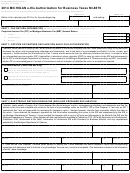 Form 4763 - Michigan E-file Authorization For Business Taxes Mi-8879 - 2014