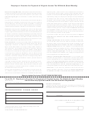 Form Va-15 - Employer's Voucher For Payment Of Virginia Income Tax Withheld (semi-weekly)