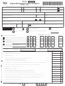 Form 763 - Virginia Nonresident Income Tax Return - 2012