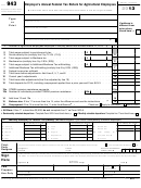Form 943 - Employer's Annual Federal Tax Return For Agricultural Employees - 2013