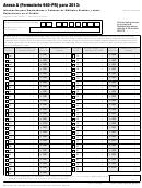 Anexo A (formulario 940-pr) - Informacion Para Empleadores O Patronos De Multiples Estados Y Sobre Reducciones En El Credito - 2013