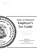State Of Missouri Employer's Tax Guide - 2012