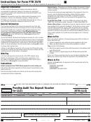 California Form 3578 - Pending Audit Tax Deposit Voucher For Llcs