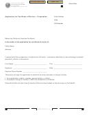 Form Ftb 3557 Bc - Application For Certificate Of Revivor - Corporation