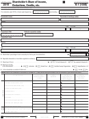 Schedule K-1 (100s) - California Shareholder's Share Of Income, Deductions, Credits
