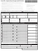 Form Pte - Virginia Pass-through Credit Allocation