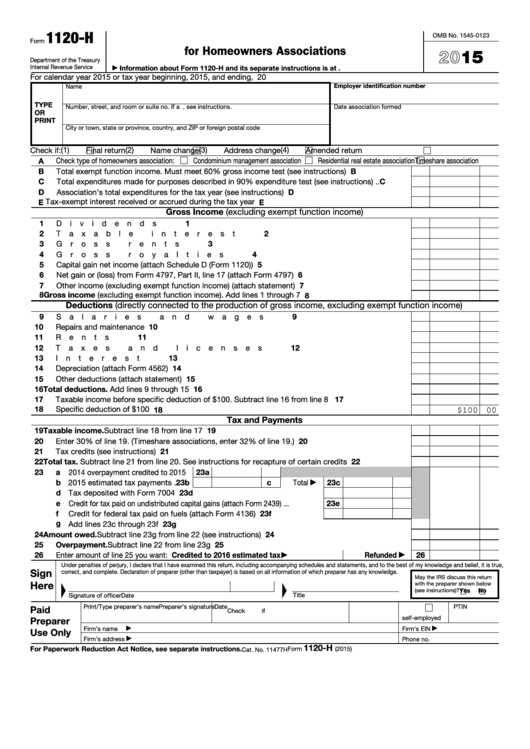 Top 17 Form 1120 H Templates Free To Download In Pdf Format
