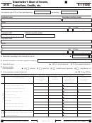 Schedule K-1 (form 100s) - Shareholder's Share Of Income, Deductions, Credits, Etc. - 2013