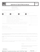 Form Tc-142 - Application For Special Plates And Decals