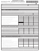 Virginia Form 500c - Underpayment Of Virginia Estimated Tax By Corporations - 2012