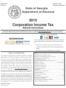 2015 Corporation Income Tax General Instructions - Georgia Department Of Revenue