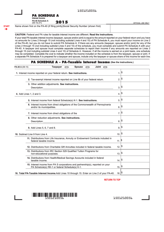 39 Pa 40 Forms And Schedules And Templates Free To Download In Pdf