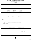 Form Ct-3 - Vermont Cigarette Tax Stamp Order