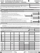 Form 3805q - California Net Operating Loss (nol) Computation And Nol And Disaster Loss Limitations Corporations - 2015