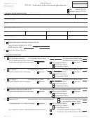 Form Ctp-121 - Certification By Non-participating Manufacturer
