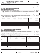 Form 3725 - California Assets Transferred From Corporation To Insurance Company - 2014