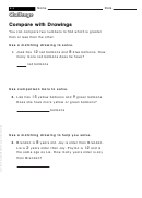 Compare With Drawings - Math Worksheet With Answers