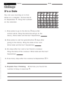 It's A Date - Math Worksheet With Answers