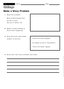 Make A Story Problem - Math Worksheet With Answers