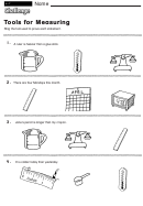 Tools For Measuring - Measurement Worksheet With Answers