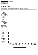 Travel Fun - Math Worksheet With Answers