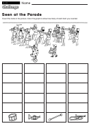 Seen At The Parade - Mathworksheet With Answers